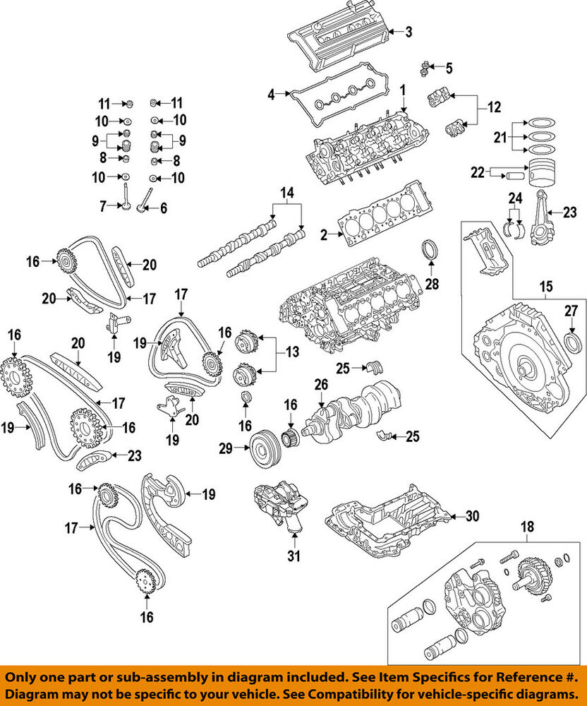 medium resolution of details about audi oem 10 12 r8 engine valve cover 07l103471aa