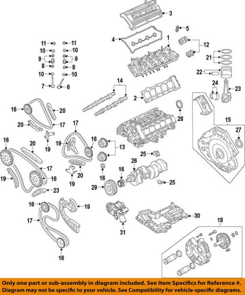 small resolution of details about audi oem 10 12 r8 engine valve cover 07l103471aa