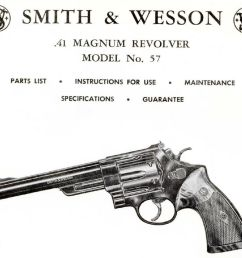 smith wesson model 57 41 magnum revolver parts use maintenance manual [ 1000 x 908 Pixel ]