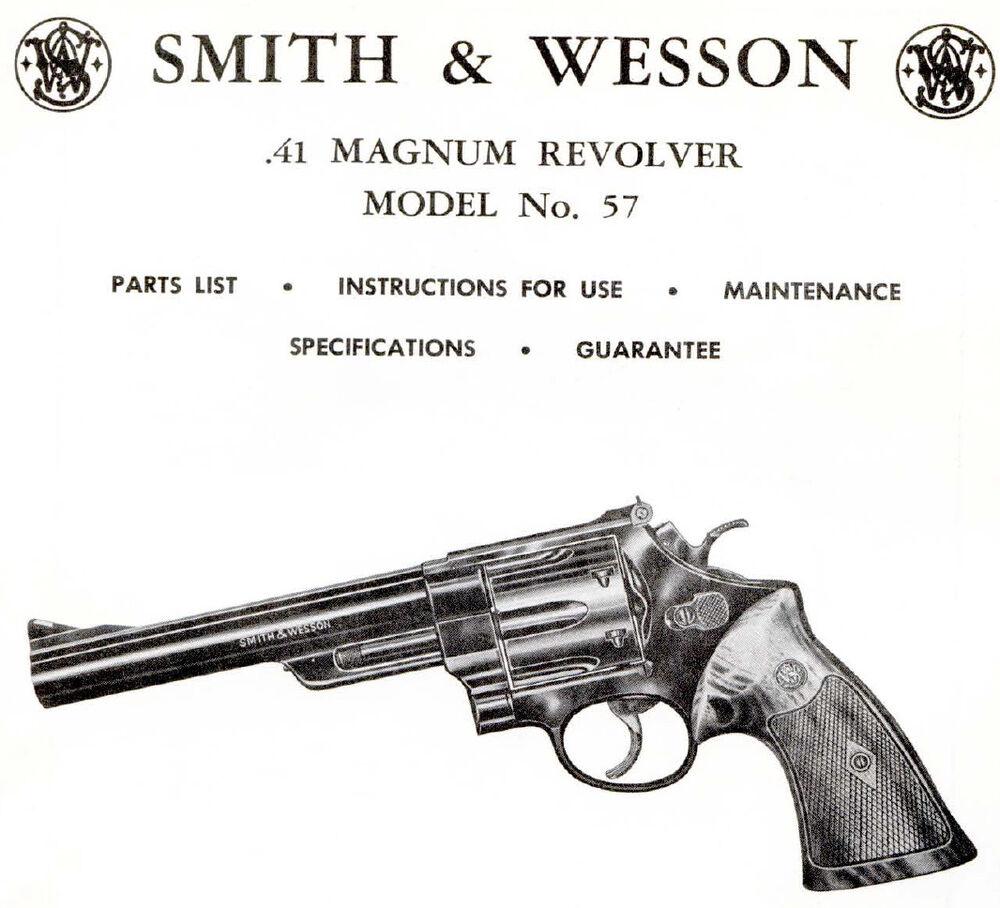 hight resolution of smith wesson model 57 41 magnum revolver parts use maintenance manual