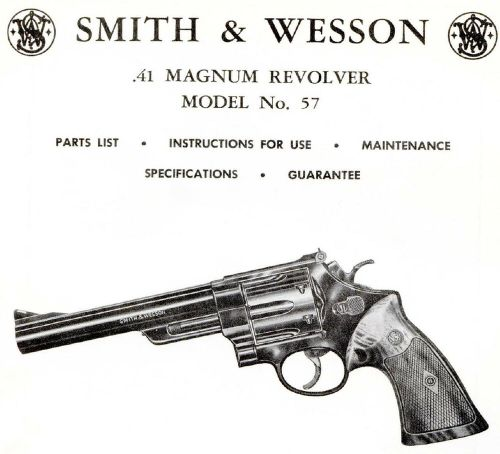 small resolution of smith wesson model 57 41 magnum revolver parts use maintenance manual
