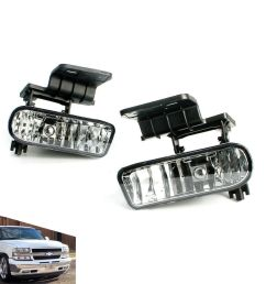 details about for 99 02 chevy silverado 00 06 suburban tahoe clear lens fog light lamps pair [ 1000 x 1000 Pixel ]