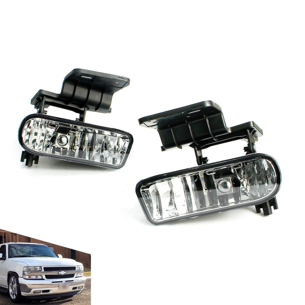 hight resolution of details about for 99 02 chevy silverado 00 06 suburban tahoe clear lens fog light lamps pair