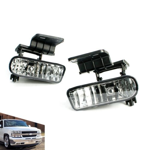 small resolution of details about for 99 02 chevy silverado 00 06 suburban tahoe clear lens fog light lamps pair