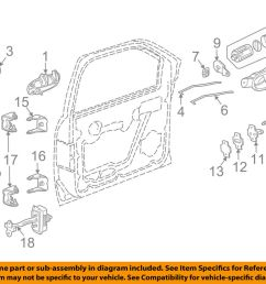 details about gm oem front door lock latch kit 15110507 [ 1000 x 798 Pixel ]