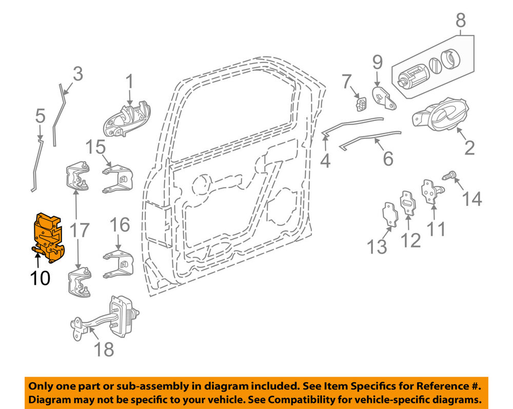 medium resolution of details about gm oem front door lock latch kit 15110507