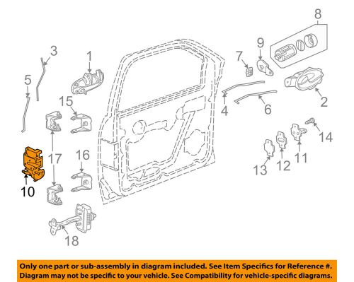 small resolution of details about gm oem front door lock latch kit 15110507