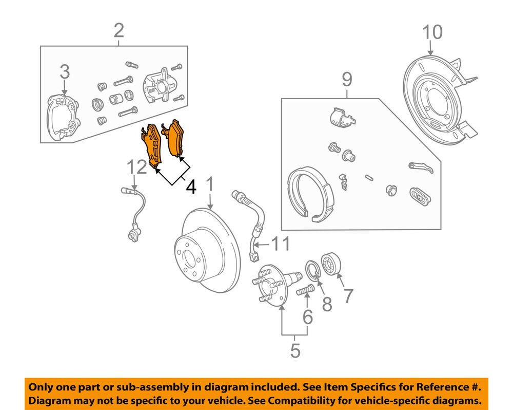 hight resolution of details about pontiac gm oem 04 06 gto brake rear pads 92175205