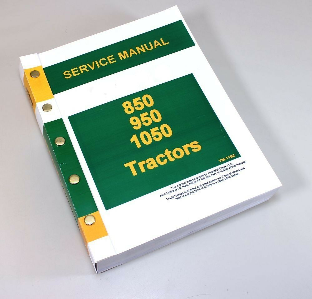 hight resolution of service manual for john deere 850 950 1050 tractor repair technical shop book ebay