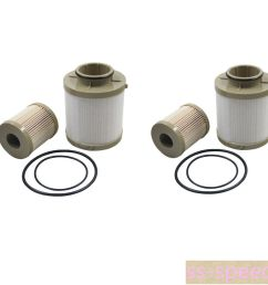 2pcs for ford fuel filter diesel 6 0 f250 f350 f450 powerstroke fd4604 fd4616 [ 1000 x 1000 Pixel ]