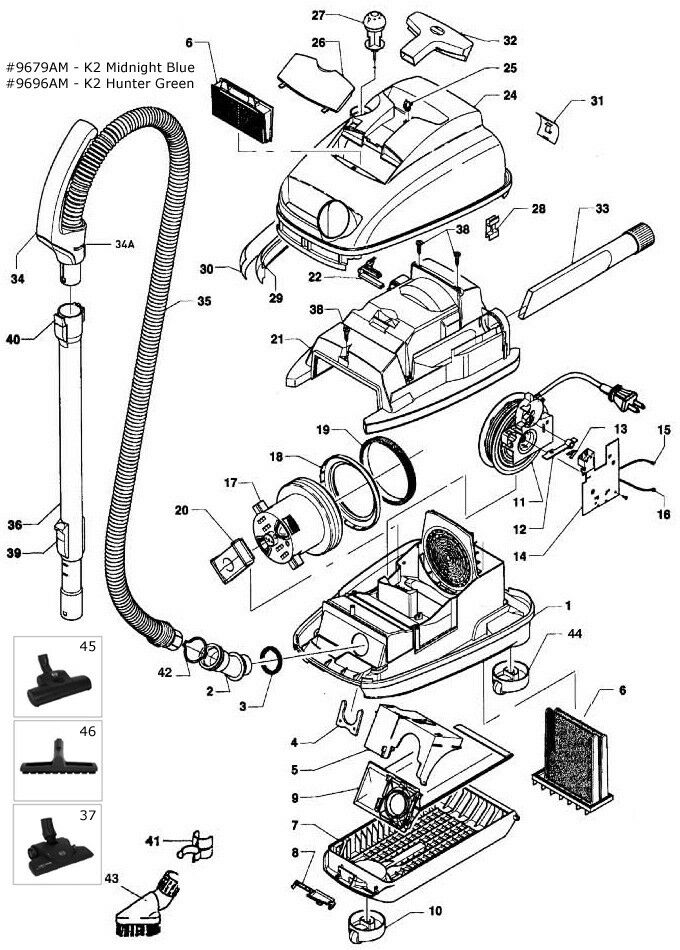 Miele S500 & S600 SERIES PARTS * (FROM WORKING MODEL S514