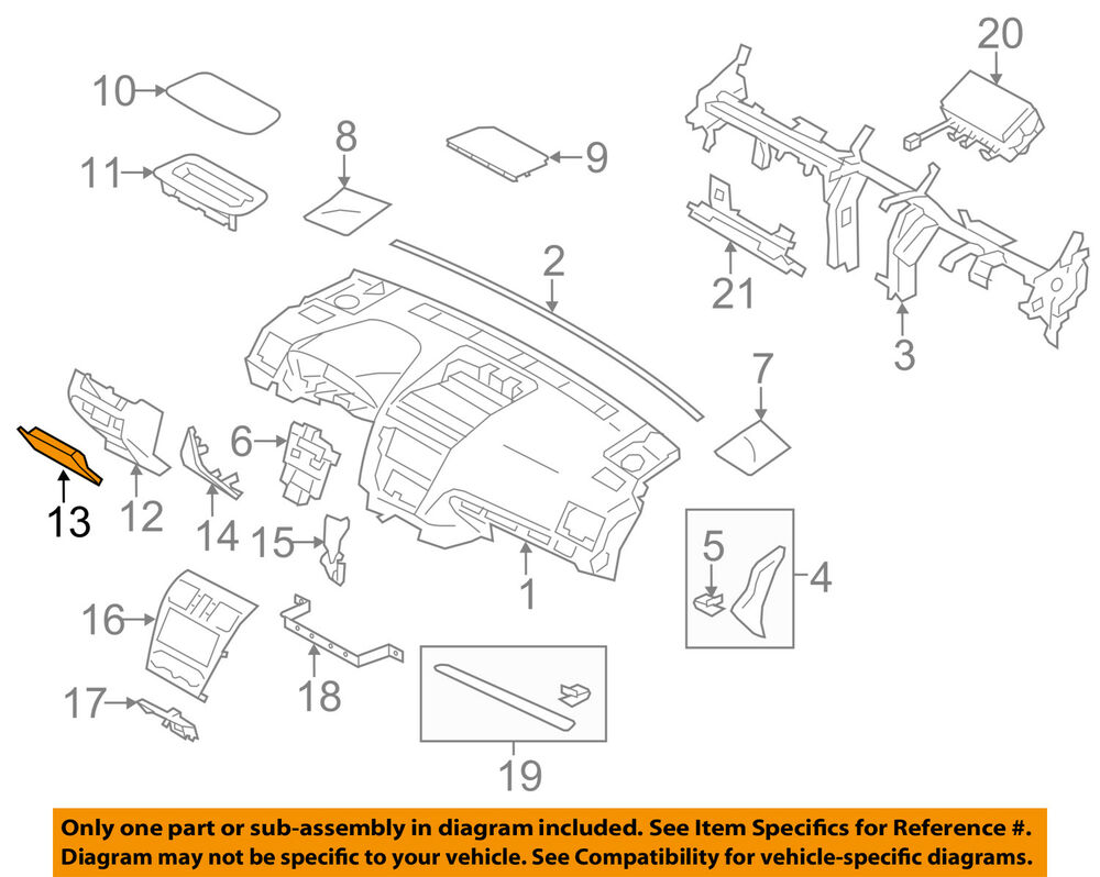 hight resolution of details about subaru oem 14 16 forester instrument panel dash fuse box door 66135fj010vh