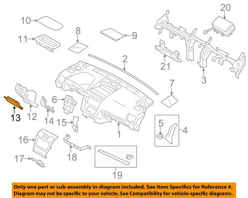 small resolution of details about subaru oem 14 16 forester instrument panel dash fuse box door 66135fj010vh