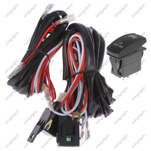small resolution of details about 12v wiring harness rocker switch roof led light bar for utv polaris xp 900 1000