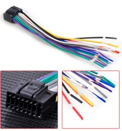 details about car radio stereo wire harness install plug cable 16 pin connector for kenwood [ 1000 x 1000 Pixel ]