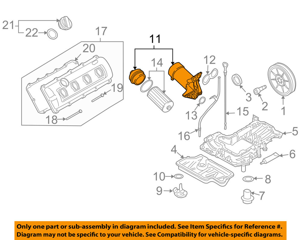 hight resolution of details about audi oem 04 09 s4 engine oil filter housing 079115401k
