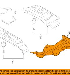 details about audi oem 04 06 s4 engine appearance cover side cover left 8e0103927e01c [ 1000 x 798 Pixel ]