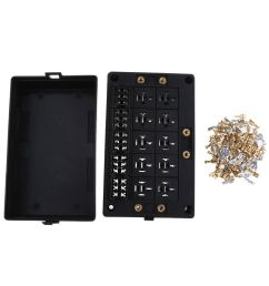 details about magideal dual input stud automotive fuse relay box holder panel terminal kit [ 1000 x 1000 Pixel ]