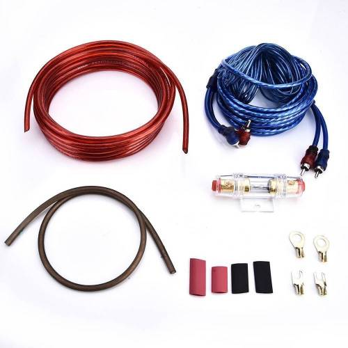 small resolution of details about 1500w 8 gauge car audio subwoofer sub amplifier amp wiring kit power cable hot