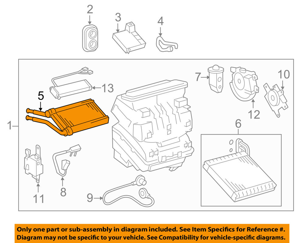 hight resolution of details about toyota oem hvac heater core 8710702230