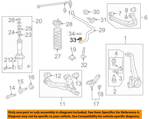 small resolution of details about toyota oem front stabilizer sway bar link bushing 9094801003