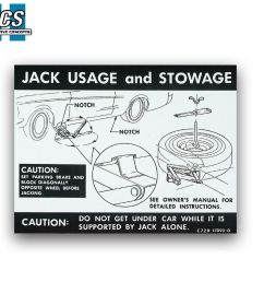 1968 1967 mustang jack usage stowage instruction decal label full size spare ebay [ 1000 x 910 Pixel ]