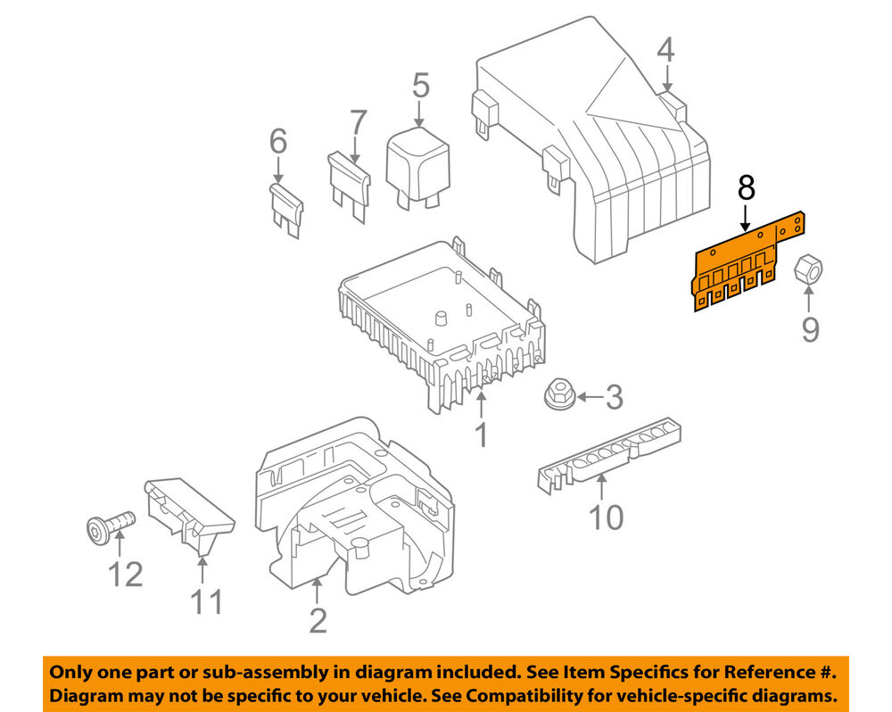 hight resolution of details about vw volkswagen oem 16 17 tiguan 2 0l l4 fuse relay main fuse 3c0937629d