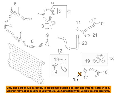 small resolution of details about audi oem 04 09 s4 4 2l v8 cooling t piece n90692901