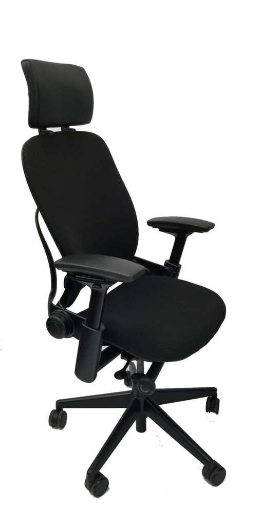 steelcase leap chair mesh gaming pm3000 headrest 4 way arms adjustable lumbar details about support v2