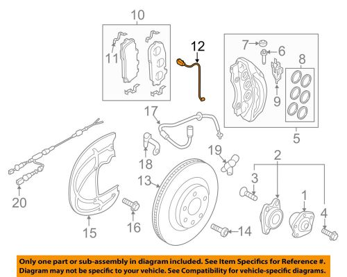 small resolution of details about audi oem 17 18 q7 disc brake pad electronic wear sensor 4m0615121ab