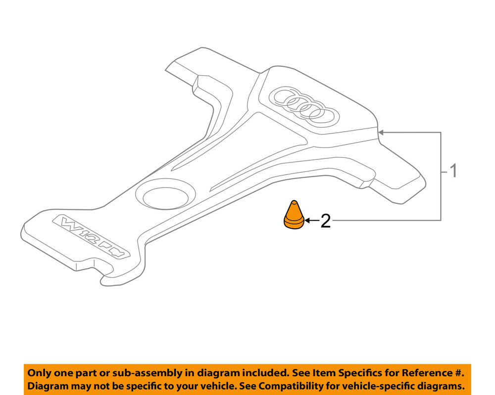 hight resolution of details about audi oem 12 16 a8 quattro engine appearance cover cover grommet 07c133588g