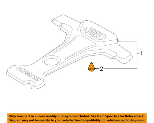 small resolution of details about audi oem 12 16 a8 quattro engine appearance cover cover grommet 07c133588g