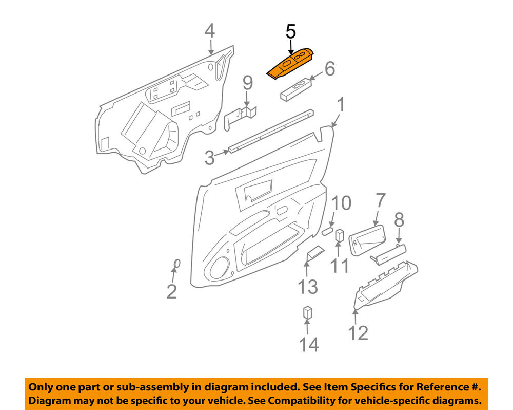 medium resolution of details about cadillac gm oem 03 07 cts front door switch bezel right 89038794