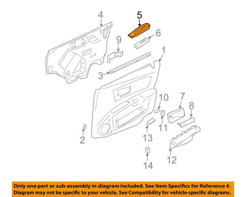 small resolution of details about cadillac gm oem 03 07 cts front door switch bezel right 89038794