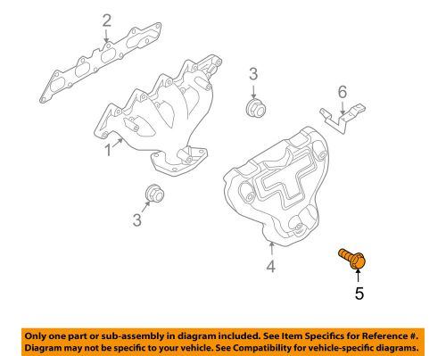 small resolution of details about chevrolet gm oem 04 08 aveo 1 6l l4 exhaust manifold heat shield bolt 94500234
