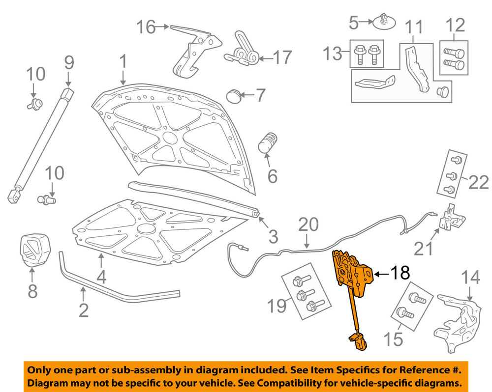 medium resolution of details about gm oem hood lock latch 92258586