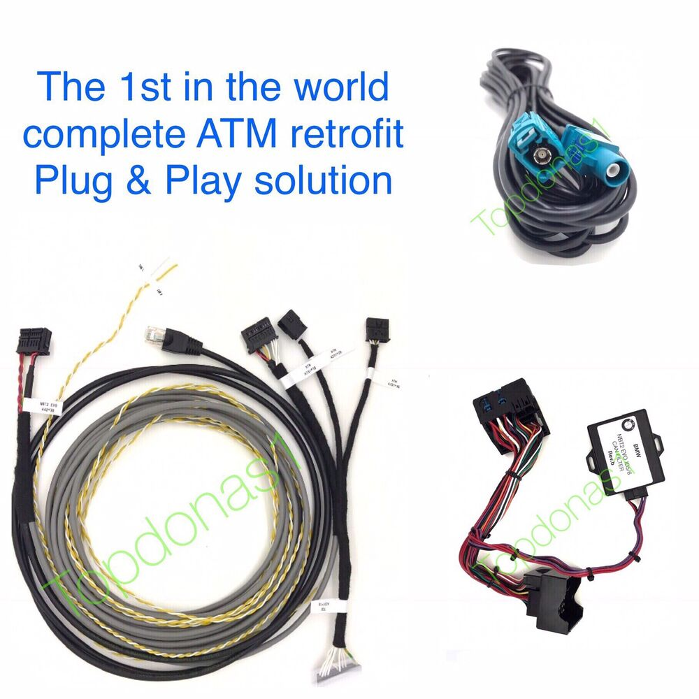 hight resolution of bmw f series nbt evo id5 6 atm retrofit wiring loom can filterdetails about bmw f