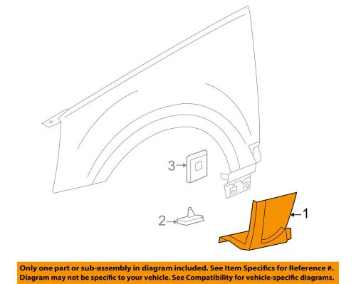small resolution of details about cadillac gm oem 06 09 srx front fender lower molding trim panel right 19120817