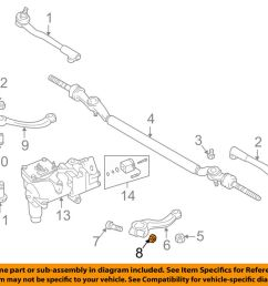details about bmw oem 95 01 750il steering gear pitman arm nut 07129964672 [ 1000 x 798 Pixel ]
