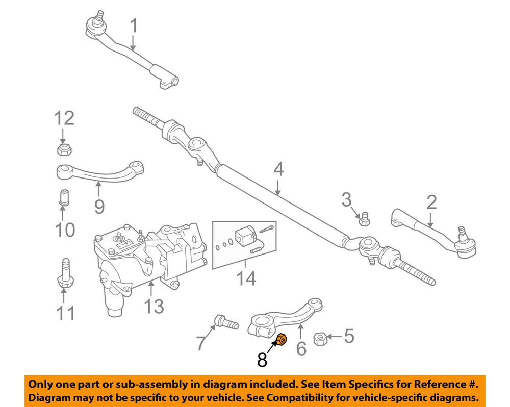 medium resolution of details about bmw oem 95 01 750il steering gear pitman arm nut 07129964672