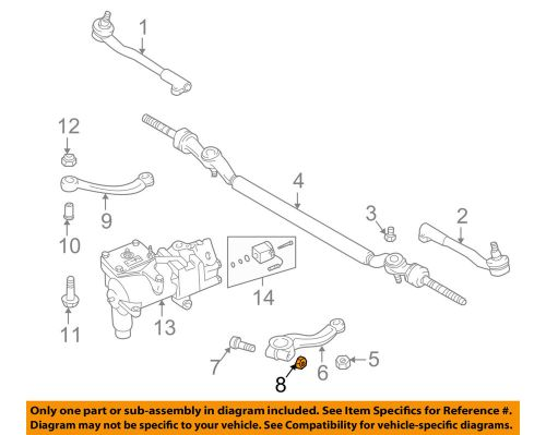 small resolution of details about bmw oem 95 01 750il steering gear pitman arm nut 07129964672