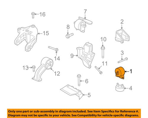 small resolution of details about dodge chrysler oem 09 10 journey engine motor mount torque strut 5171077ac