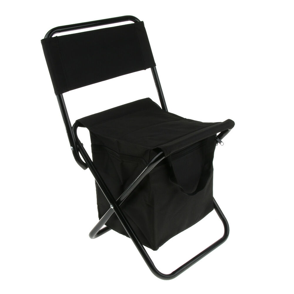 Sturdy Camping Chair Folding Cooler And Stool Backpack Portable Camping Chair Insulated Ice Bag Ebay