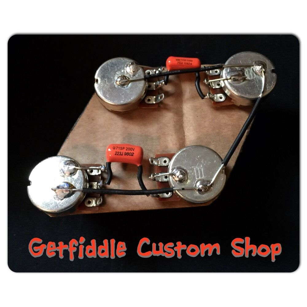medium resolution of details about gibson les paul 50 s wiring harness bourns long shaft pots 022uf sprague