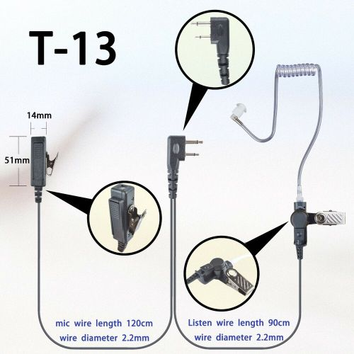 small resolution of details about 2 wire surveillance earpiece for icom ic f14 ic f16 ic f24 ic f26 portable radio