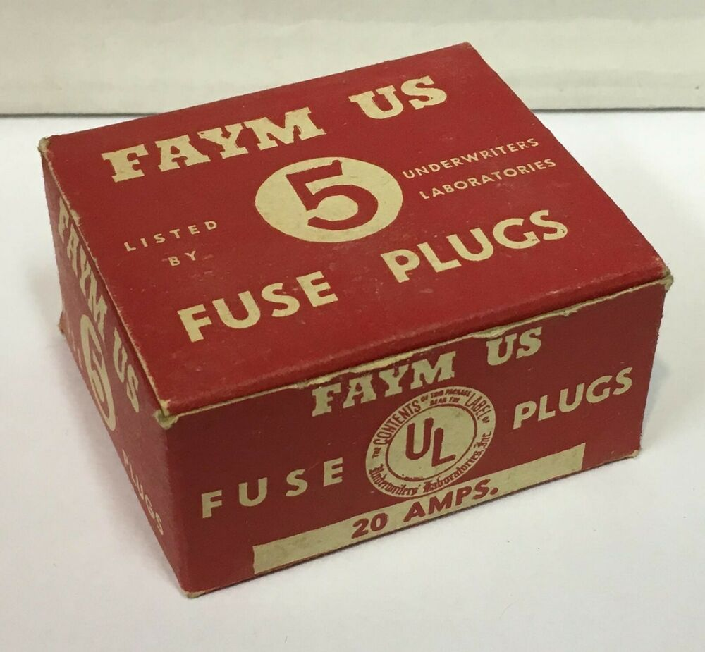 hight resolution of vintage faym us 20 amp fuse plugs unused from old store stock warehouse find ebay