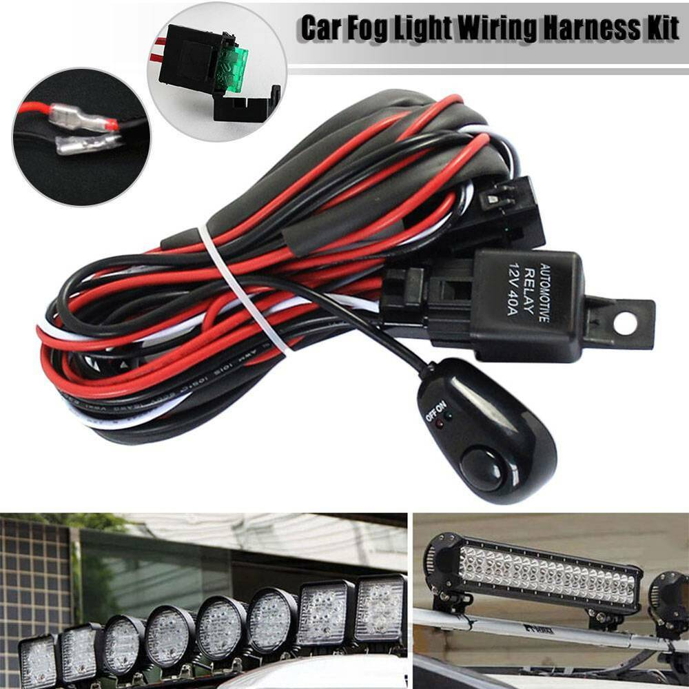 hight resolution of details about 40a remote control wiring harness kit strobe switch relay led fog light bar 12v
