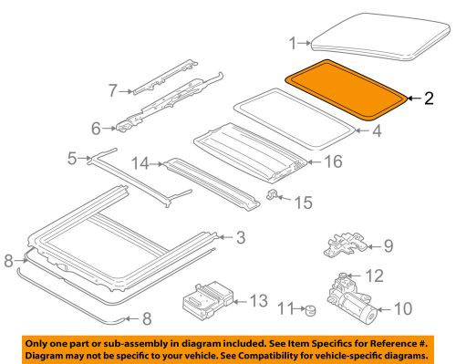 small resolution of jaguar oem 95 03 vanden plas sunroof panel seal hng1727ab ebay f150 sunroof diagram details about