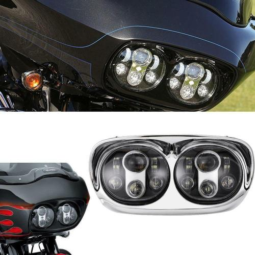 small resolution of details about led headlight dual projector lamp for harley road glide 2004 2013 fltr