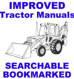 details about ford tractors 455c 555c 655c backhoe tractor service repair manual searchable cd [ 1000 x 1000 Pixel ]
